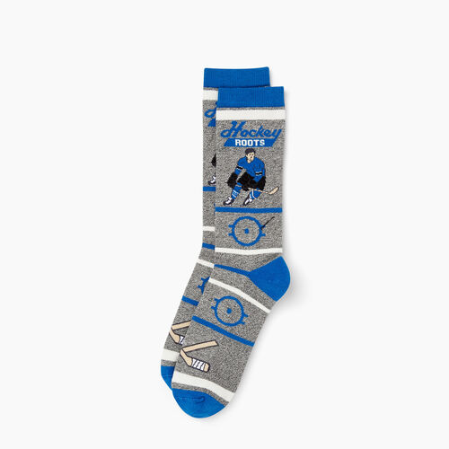 Roots-Clearance Men-Mens Hockey Boot Sock-Active Blue-A