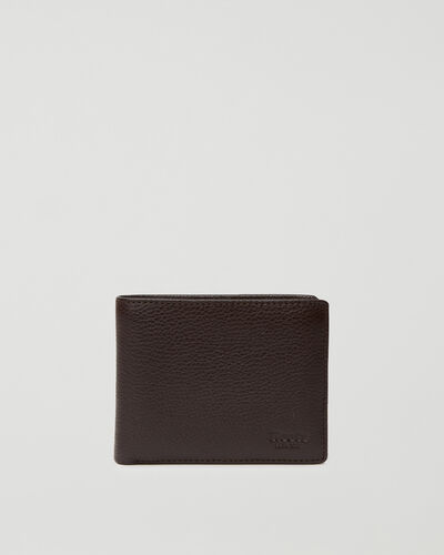 Roots-Leather Wallets-Mens Slimfold Wallet With Side Flap Prince-Chocolate-A