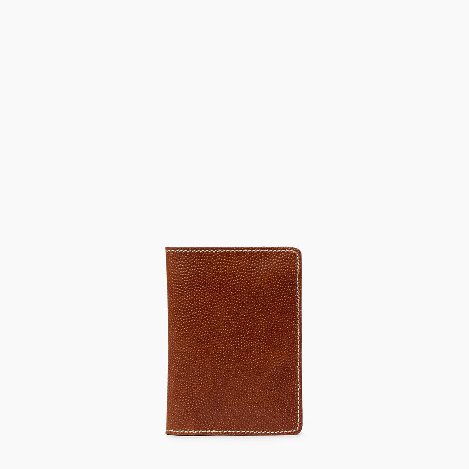 Roots-Leather  Handcrafted By Us Our Favourite New Arrivals-Horween Passport Wallet-Cognac-A