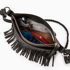 Roots-Leather  Handcrafted By Us Our Favourite New Arrivals-The Hippy Bag-Jet Black-D