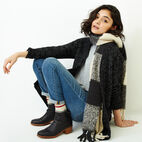 Roots-Women Our Favourite New Arrivals-Snowy Fox Cardigan-Black Fox-B