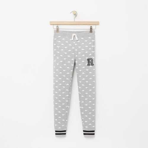 Roots-Kids Girls-Girls Alumni Sweatpant-Grey Mix-A