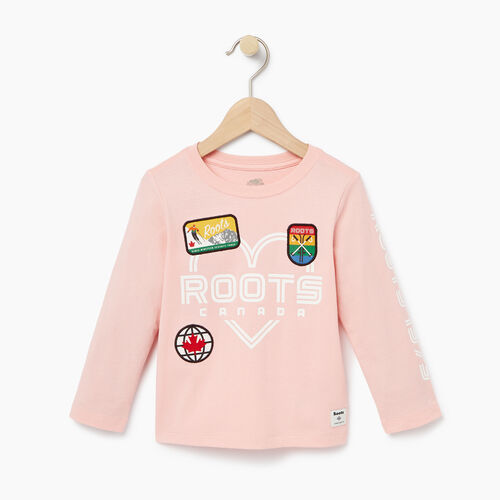 Roots-Winter Sale Toddler-Toddler Ski Patch T-shirt-Light Pink-A