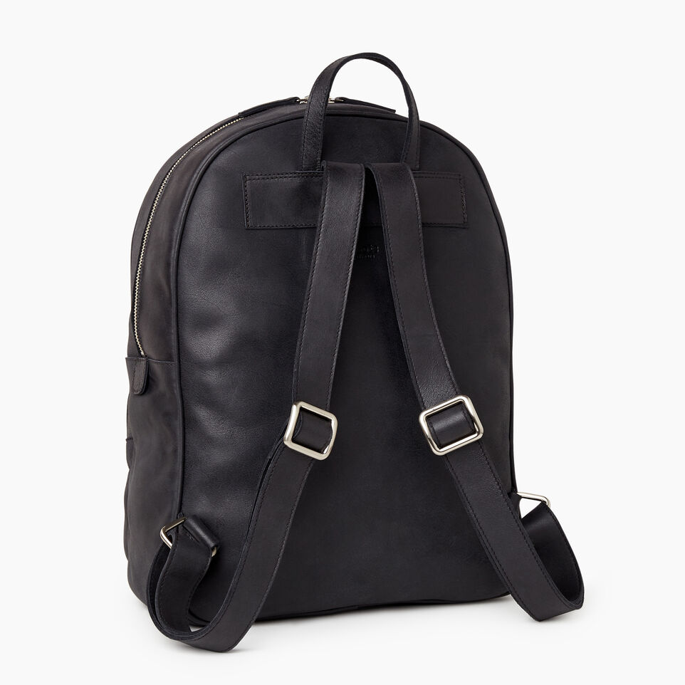 Roots-Leather Our Favourite New Arrivals-Jasper Backpack-Jet Black-C