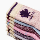Roots-Kids Toddler Girls-Toddler Days Of The Week Sock 7 Pack-Purple Mix-B