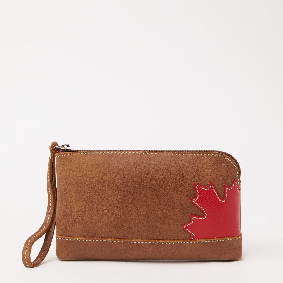 Roots-undefined-Maple Leaf Funky Zip Pouch Tribe-undefined-C