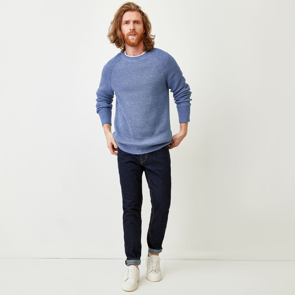 Roots-Men Our Favourite New Arrivals-Baffin Fishermans Sweater-Celestial Blue Mix-B
