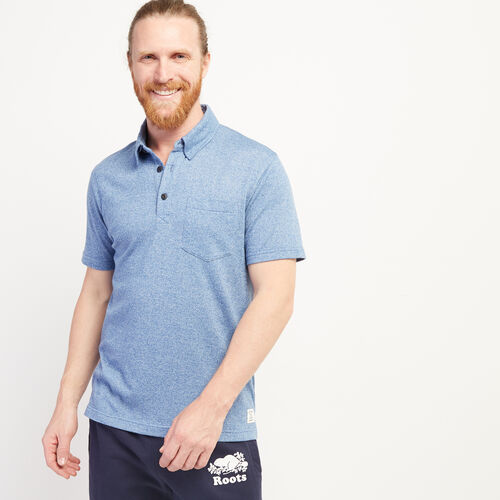 Roots-Men Clothing-Jersey Peppered Polo-Federal Blue Pepper-A