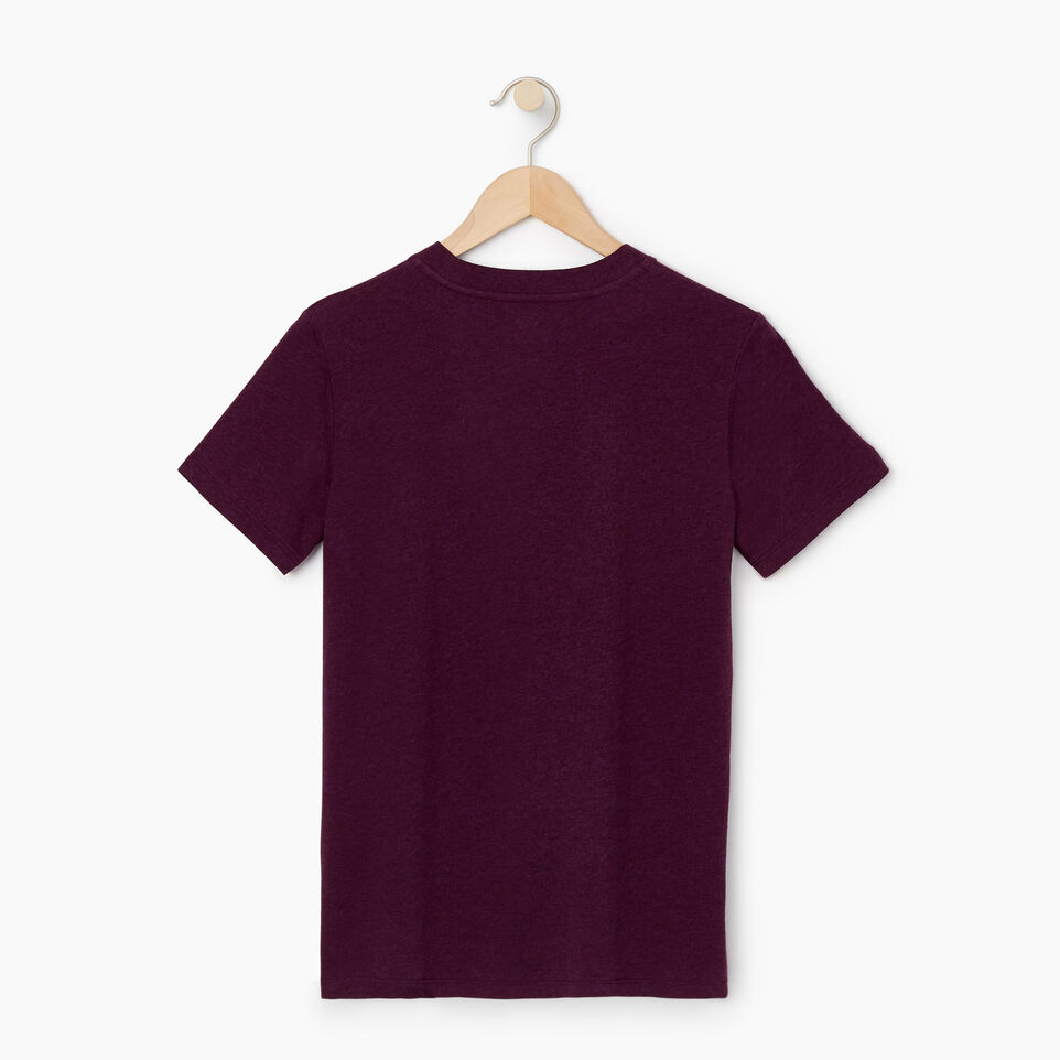 Roots-Women Clothing-Womens Classic Roots Canada T-shirt-Pickled Beet Mix-B