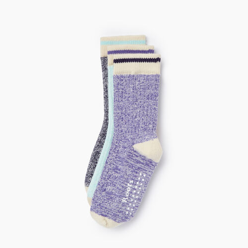 Roots-Kids Toddler Girls-Toddler Cabin Sock 3 Pack-Violet Storm-A
