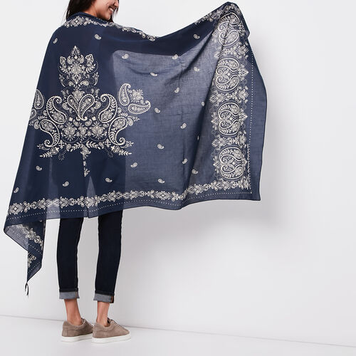 Roots-Sale Accessories-Bandana Sarong-Cascade Blue-A