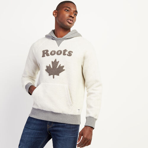 Roots-Men New Arrivals-Reverse Fleece Hoody-Rainy Day-A