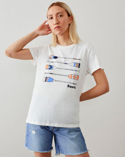 Roots-Women Graphic T-shirts-Womens Lockeport T-shirt-Ivory-A