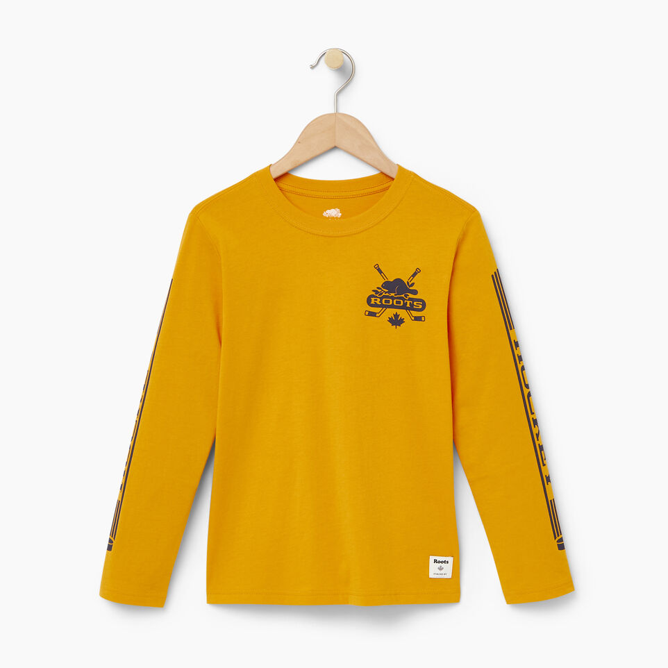 Roots-Kids Our Favourite New Arrivals-Boys Hockey T-shirt-Squash Yellow-A