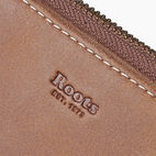 Roots-Leather Tribe Leather-Small Zip Wallet Tribe-Natural-D