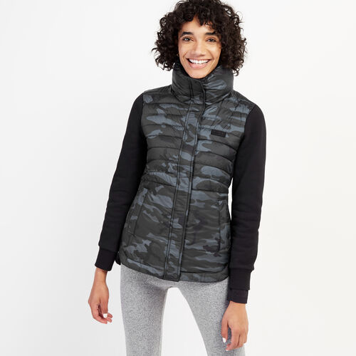 Roots-New For September Women-Journey Hybrid Jacket-Black Camo-A
