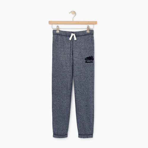 Roots-Kids Bottoms-Boys Original Sweatpant-Navy Blazer Pepper-A