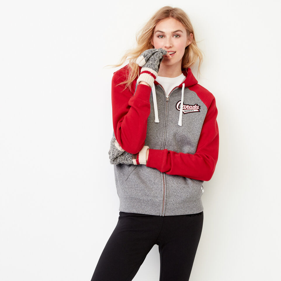 Roots-Women Our Favourite New Arrivals-Canada Full Zip Hoody-Salt & Pepper-A