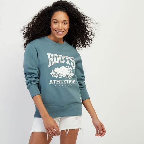 Roots-Women Categories-RBA Boyfriend Crew Sweatshirt-North Atlantic-A