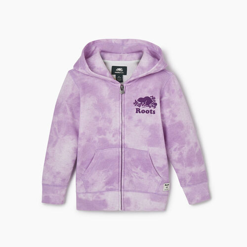 Roots-Sweats Toddler Girls-Toddler Original Full Zip Hoody-African Violet-A