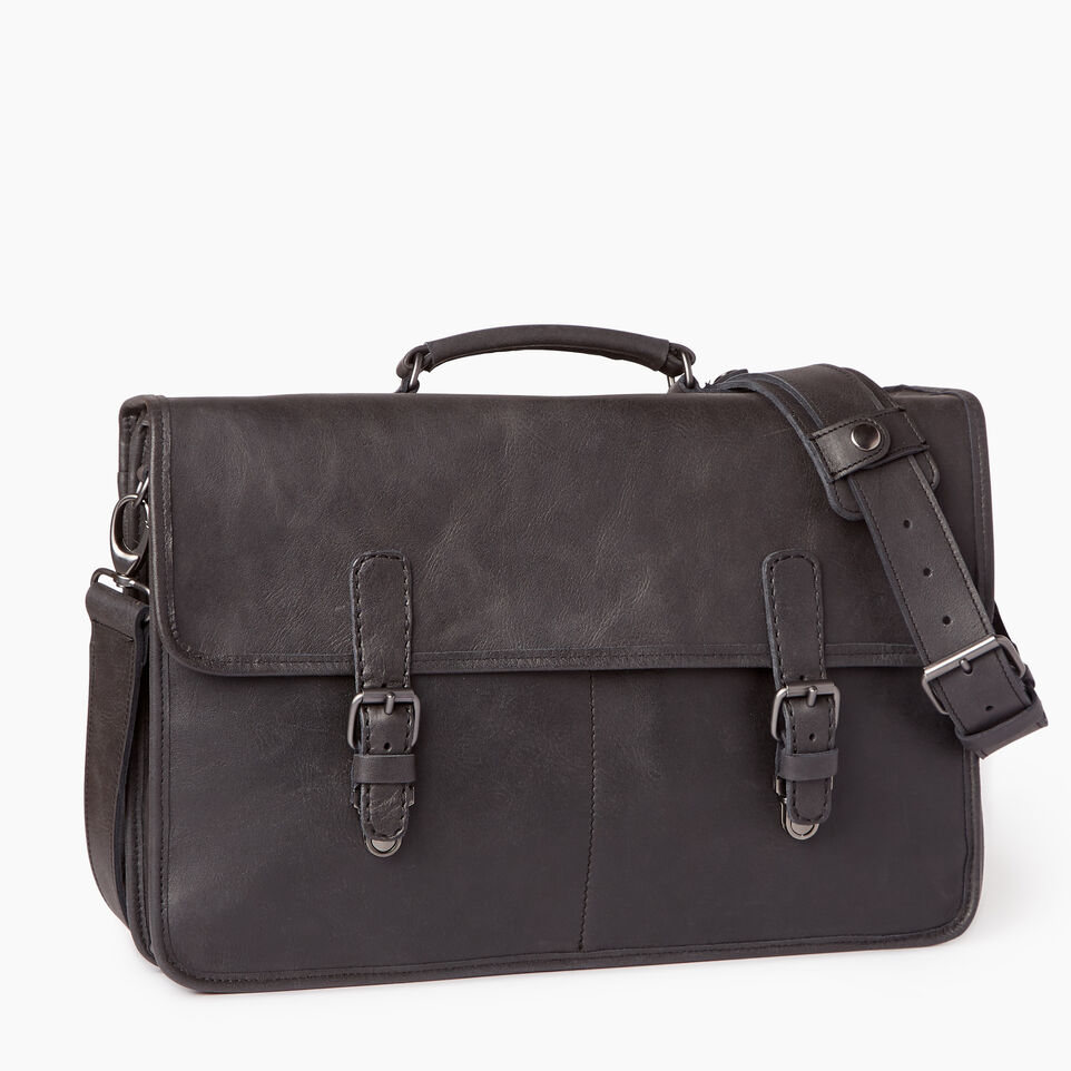 Roots-Leather  Handcrafted By Us Our Favourite New Arrivals-The Original Briefcase-Jet Black-A