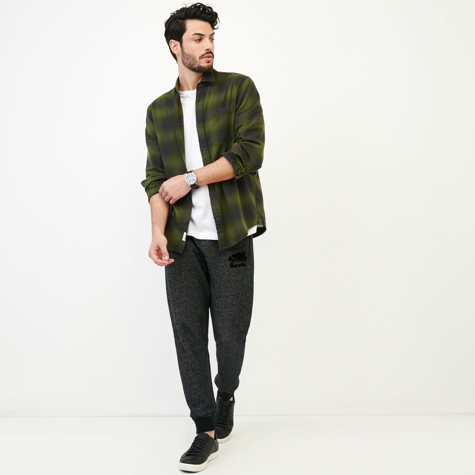 Roots-Men Our Favourite New Arrivals-Wallace Flannel Shirt-Fatigue-B