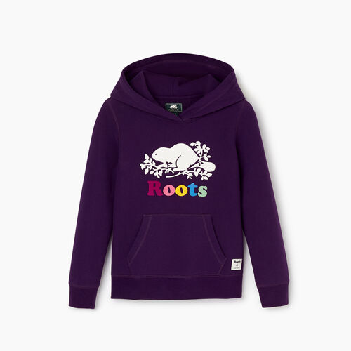 Roots-Kids Our Favourite New Arrivals-Girls Original Kanga Hoody-Blackberry-A