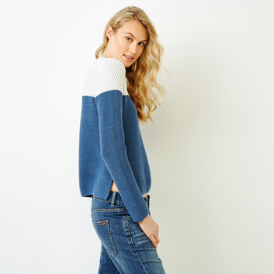 Roots-Women Sweaters & Cardigans-Arbutus Twill Sweater-Bering Sea-C