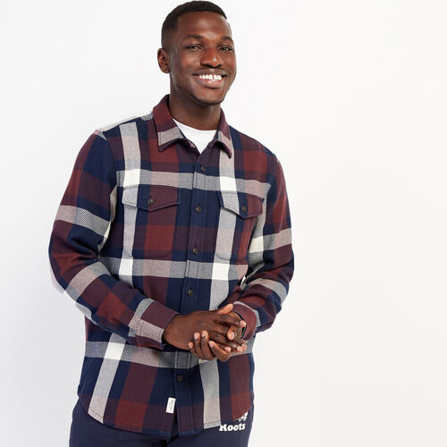 Roots-New For October Plaids-Cypress Twill Shirt-Navy Blazer-A