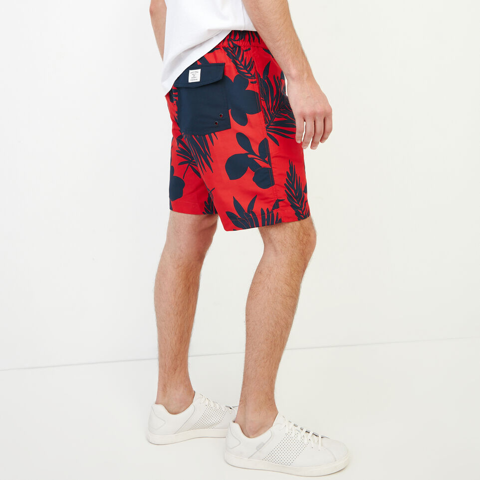 Roots-Men Our Favourite New Arrivals-Dock Aop Short-Racing Red-C