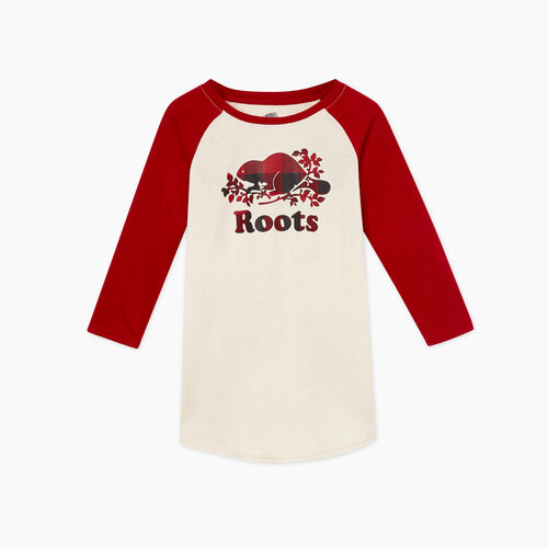 Roots-New For November Kids-Toddler Margaree Sleep Dress-Cabin Red-A