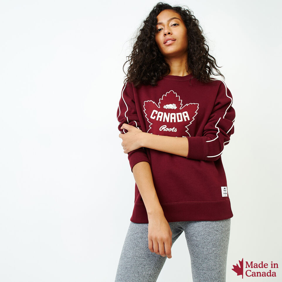 Roots-Women Categories-Womens Canada Crew Sweatshirt-Northern Red-A