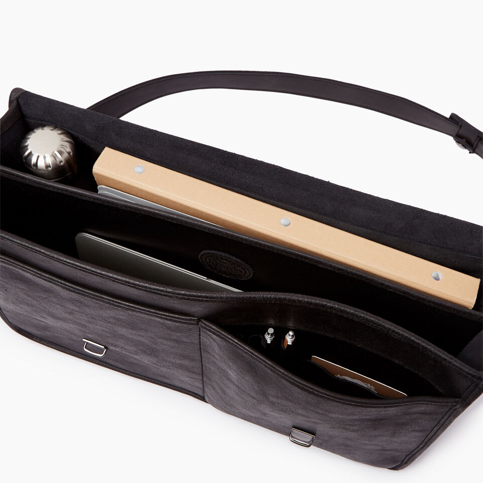 Roots-Leather  Handcrafted By Us Our Favourite New Arrivals-The Original Briefcase-Jet Black-D