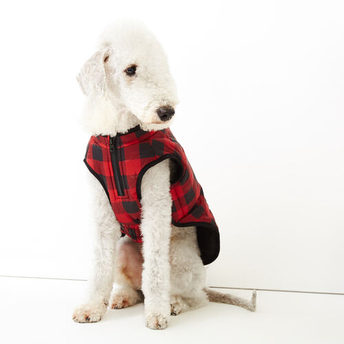 Roots-Women Categories-Pooch Park Plaid Puffer Size 16-Red-A