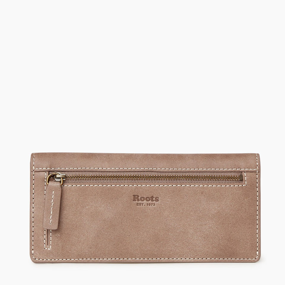 Roots-Leather New Arrivals-Riverdale Slim Wallet-Fawn-B