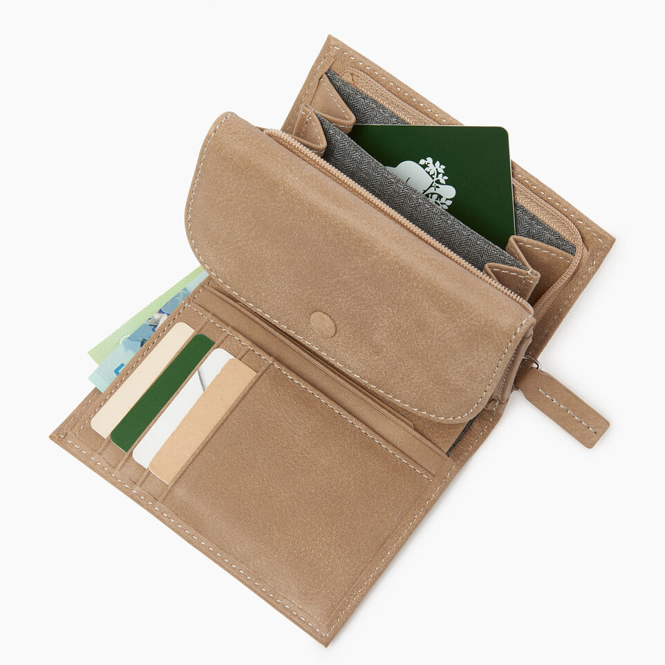 Roots-Leather  Handcrafted By Us Our Favourite New Arrivals-Riverdale Wallet-Sand-C