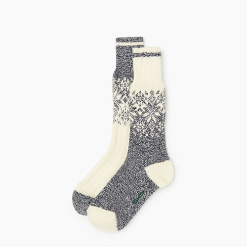 Roots-Women Socks-Roots Elsa Cabin Sock 2 Pack-Grey Oat Mix-A