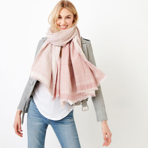 Roots-Women Accessories-Saguenay Scarf-Woodrose-A
