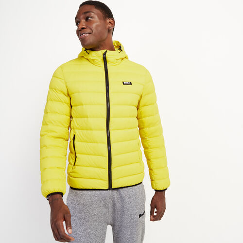 Roots-Men Jackets & Outerwear-Roots Packable Down Jacket-Chartreuse-A