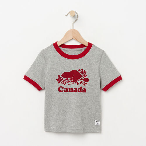 Roots-Kids Toddler Boys-Toddler Cooper Canada Ringer T-shirt-Grey Mix-A