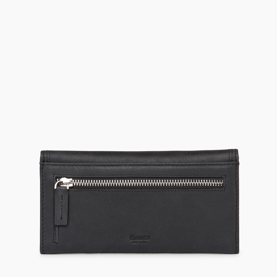 Roots-Leather Categories-Canmore Wallet Tribe-Jet Black-B