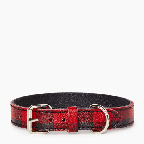 Roots-New For January Dog Accessories-Medium Leather Dog Collar-Cabin Red-A