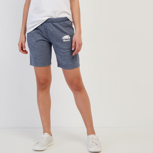 Roots-Women Shorts & Skirts-Original Longer Sweatshort-Navy Blazer Pepper-A