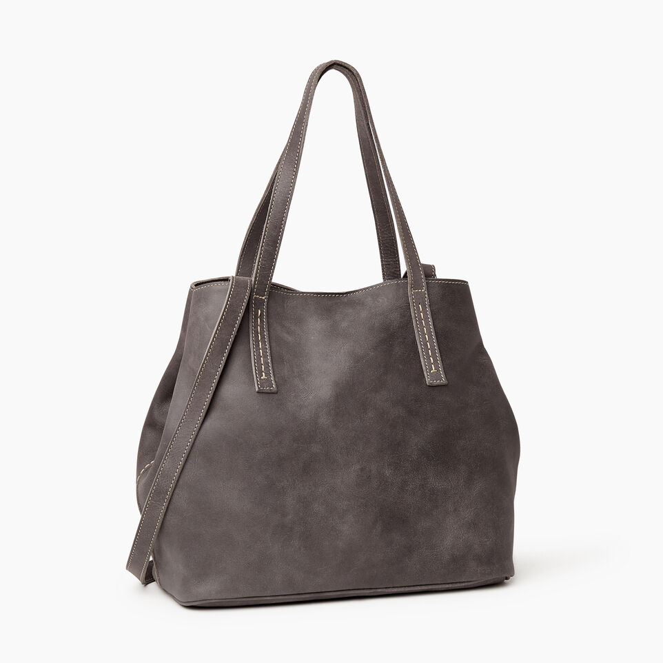 Roots-Leather New Arrivals-Amelia Tote-Charcoal-C