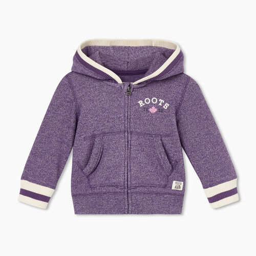 Roots-Sweats Baby-Baby Cabin Cozy Full Zip Hoody-Loganberry Pepper-A