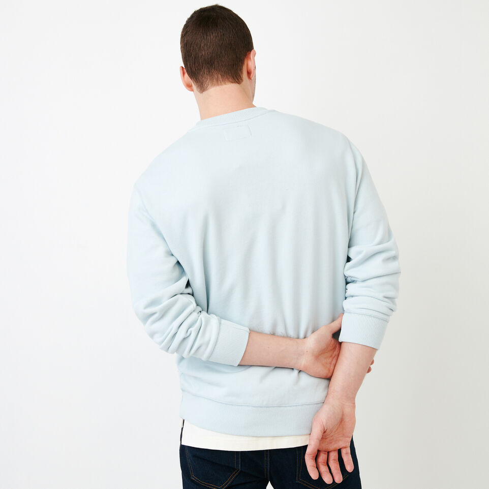 Roots-Men Our Favourite New Arrivals-Cooper Crew Sweatshirt-Baby Blue-D