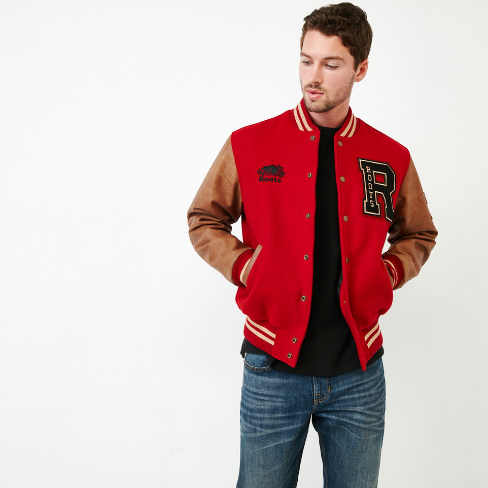 Roots-Men Award Jackets-Roots Script Award Jacket-Red-A