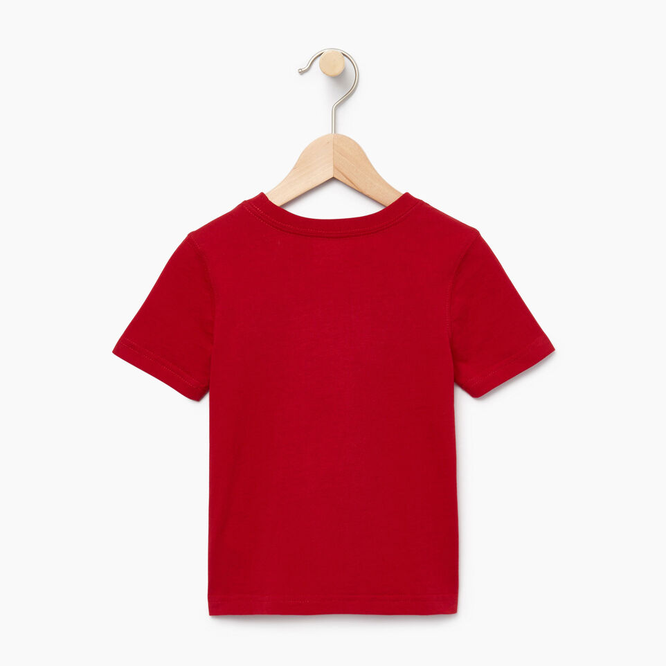 Roots-Kids Canada Collection-Toddler Canadian Boy T-shirt-Sage Red-B