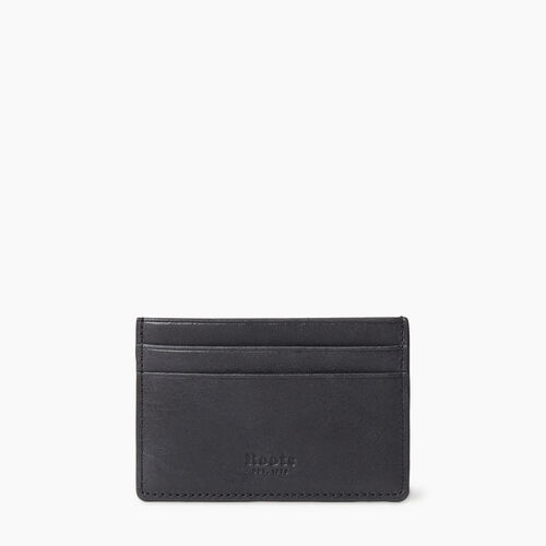 Roots-Leather  Handcrafted By Us Our Favourite New Arrivals-Card Holder Tribe-Jet Black-A