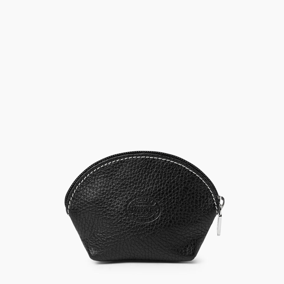 Roots-Women Leather Accessories-Small Euro Pouch-Black-B